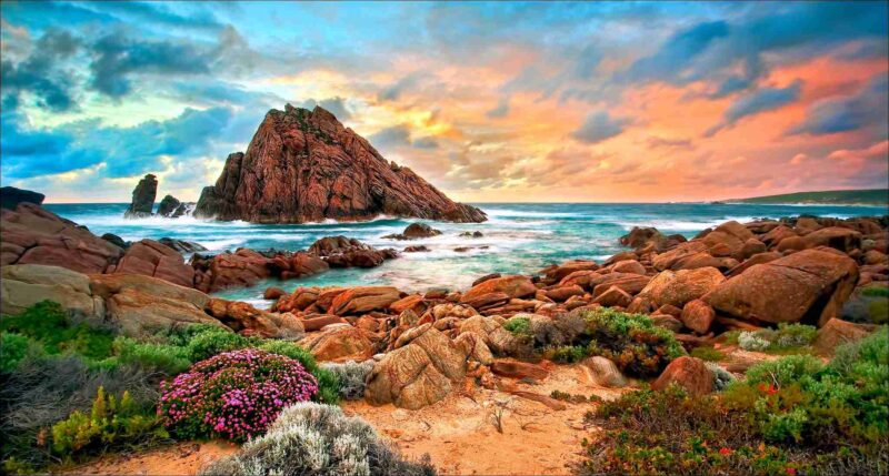 Beach Coastal View Nature Stones Sea Coast Clouds Landscape Australia Wallpaper For Mobile