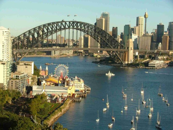 Floating Boats On Sydney Australia Harbour Bridge Desktop Backgrounds Laptop Photos Hd Images Free Download