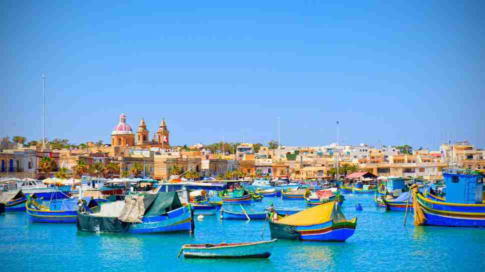 Malta Sea Boats Houses Blue Sky Travel Place 4k Wallpaper Middle Size