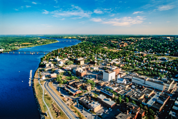 Aerial Fredericton New Brunswick Canada